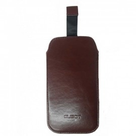 Cover Cubot X18 leather brown