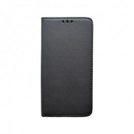 Knižkové puzdro Moto E6 čierne, vzorované