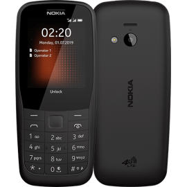 Nokia 220 4G Dual Sim Čierna, SK Distribúcia