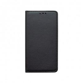 Knižkové puzdro LG Q60 čierne, vzorované