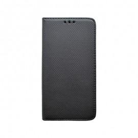 Knižkové puzdro Moto E6 Plus čierne vzorované