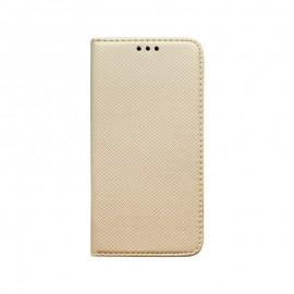 Knižkové puzdro Samsung Galaxy A71 zlaté, vzorované