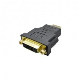 Redukcia HDMI samec na DVI samec čierna