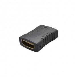Prepojovacia HDMI redukcia 2x samica, čierna