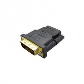 Adaptér DVI samec (24+1) na HDMI samicu, čierny