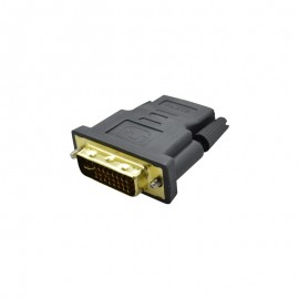 Adaptér DVI samec (24+5) na HDMI samicu, čierny