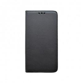 Knižkové puzdro Moto E6 Play čierne vzorované