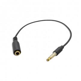 Čierny predlžovací kábel 3.5mm jack