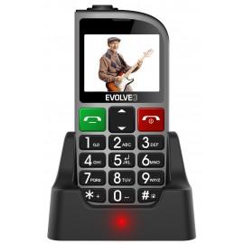 Evolveo EasyPhone FM, Čierny + nabíjací stojan - SK distribúcia