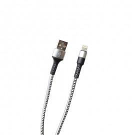 Dátový kábel Apple Lightning strieborný, 2A, 1 m, TPU