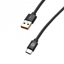 TypeC čierny STURDO 3A kábel (1.5m) 8mm konektor