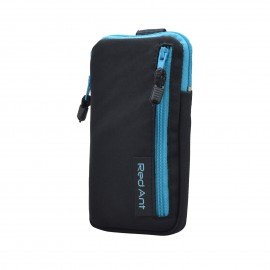 5XL čierne Outdoorové Softshell puzdro RedAnt vrecko modrý zips