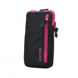 4XL čierne Outdoorové Softshell puzdro RedAnt vrecko ružový zips