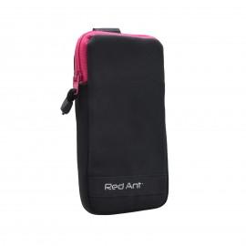 4XL čierne Outdoorové Softshell puzdro RedAnt ružový zips