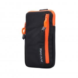 4XL čierne Outdoorové Softshell puzdro RedAnt vrecko oranžový zips
