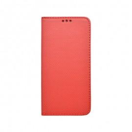 Motorola G8 Power Lite červená bočná knižka, vzorovaná