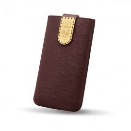 Kožené puzdro NFC RED ANT Čičmany, veľkosť 2XL bordové, zdobené drievkom