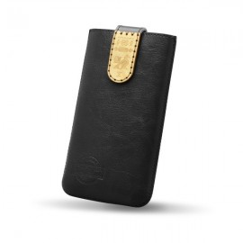 Kožené puzdro NFC RED ANT Čičmany, 2XL, čierne, zdobené drievkom