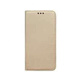 Motorola One Fusion Plus zlatá bočná knižka, vzorovaná