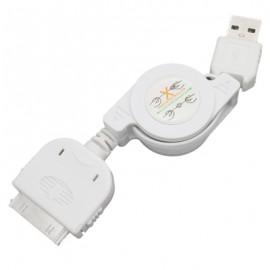 USB kábel iPhone, max 0,75 m, biely
