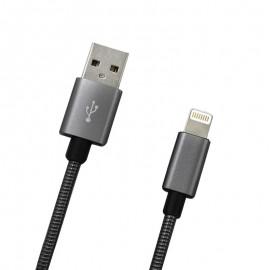 Dátový kábel Apple Lightning sivý metalický, 1m, 2A
