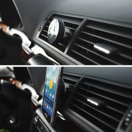 Magnetický stojan do auta, pre vetracie mriežky, čierny
