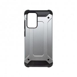 Samsung Galaxy A72 plastové puzdro, strieborná Military
