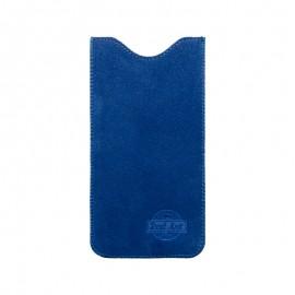 4XL puzdro z brúsenej kože SPRING modré