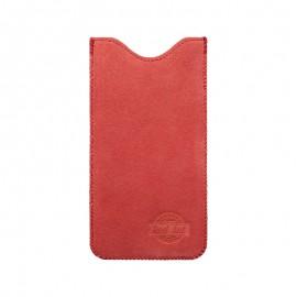 4XL puzdro z brúsenej kože SPRING červené
