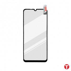 Huawei P40 Lite 5G čierne ochranné full glue sklo, Q sklo