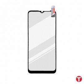 Motorola E7 Plus čierna sklenená fólia Full Glue, Q Sklo