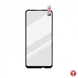 Motorola G9 čierna sklenená fólia Full Glue, Q Sklo