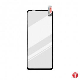 Motorola One 5G čierna sklenená fólia Full Glue, Q Sklo