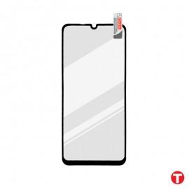 Huawei P Smart S čierna sklenená fólia Full Glue, Q Sklo