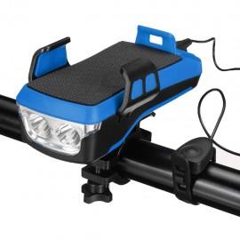Modrý bike držiak so svetlom a 4000mAh batériou