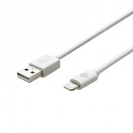 Sturdo dátový kábel 2,4A MFI certifikovaný Apple Lightning, 1m (C89), biely