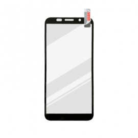 Huawei Y5p čierne Full Glue sklenená fólia,  Q sklo