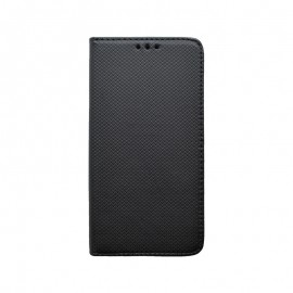 Huawei Y5p čierna bočná knižka, vzorovaná
