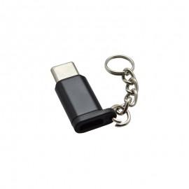 Redukcia z micro USB na USB-C čierna