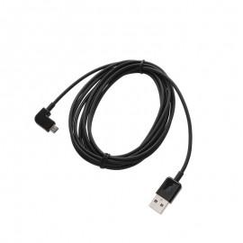 Lomený dátový kábel micro USB čierny 3 m