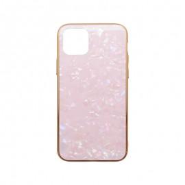 Puzdro Marble Glass iPhone 11 Pro ružové