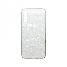 Puzdro Marble Glass Samsung Galaxy A30s biele