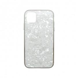 Puzdro Marble Glass iPhone 11 Pro biele