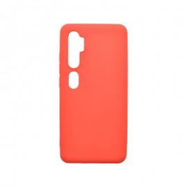 Matné silikónové puzdro Xiaomi Mi Note 10 červené