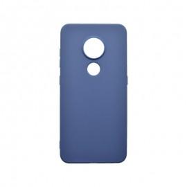 Matné silikónové puzdro Nokia 7.2 tmavomodré