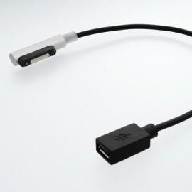 Magnetický konektor micro USB Sony Xperia, strieborný