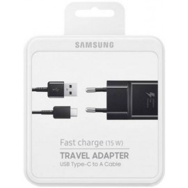 Samsung nabíjačka Fast Charge 15W s káblom USB-C, čierna, EP-TA20EBE