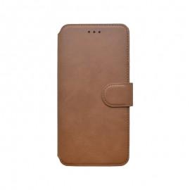 Motorola G9 Plus hnedá bočná knižka, 2020