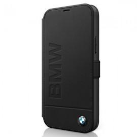 BMW knižkové puzdro pre iPhone 12 Pro Max, BMFLBKP12LSLLBK čierne