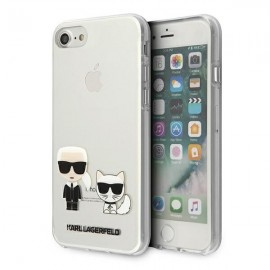 Karl Lagerfeld puzdro na iPhone 7, iPhone 8, iPhone SE, KLHCI8CKTR priehľadná
